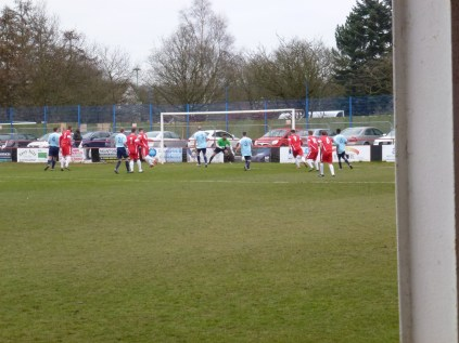 First goal of the match, to the Wood