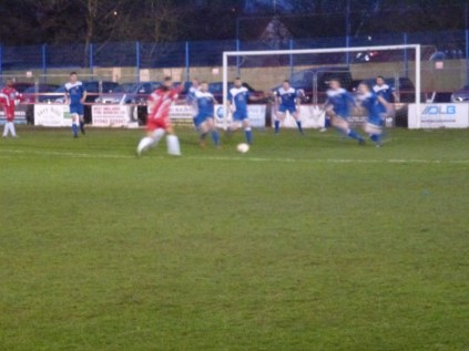 Rocester defending well as they inched their way in to the game. Good soccer