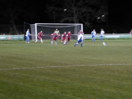 Lichfield try to score their third goal as Wood rally to face the onslaught. This was Lichfield's night.