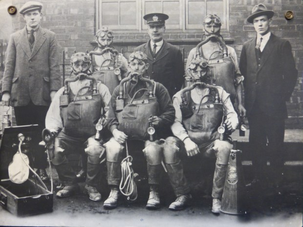 John Pattision with mines rescue team