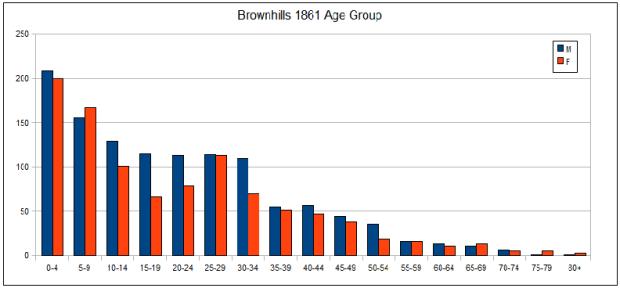Population profile brownhills 1861