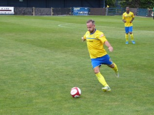 Some fine long-range clearance shots to launch attacking moves were made by Tividale