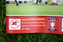 A big welcome to Pegasus Juniors at their first visit to Walsall Wood