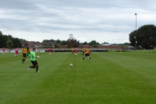 Alvechurch goalkeeper at work, initiating another attacking build-up move.
