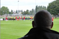 First goal to Alvechurch brings visiting spectators to their feet.