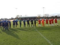 Long shadows and near freezing conditions . Stourport played in blue strip today