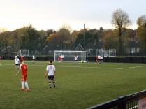 Equalising goal early in the second half, before most spectators had finished their chips.