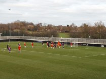 Early attack by Loughborough brings one of many fine saves as the Wood defend well.