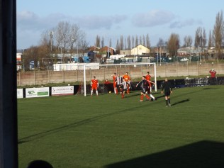 St Andrews on the attack in the first half
