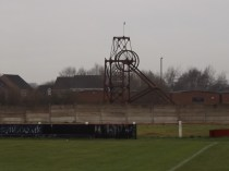 Heavy grey sky to herald todays match at the Theatre of Dreams, Oak Park