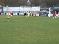 Tividale score their second goal and the attendant ball boys look on aghast. Understandable
