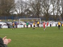 Within a few moments into the second half and the Wood continue their pressure. Goal !