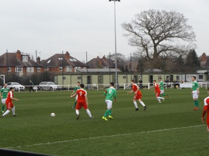 An early forward move by the Wood, but the first half play was fractured, and increasingly fractious