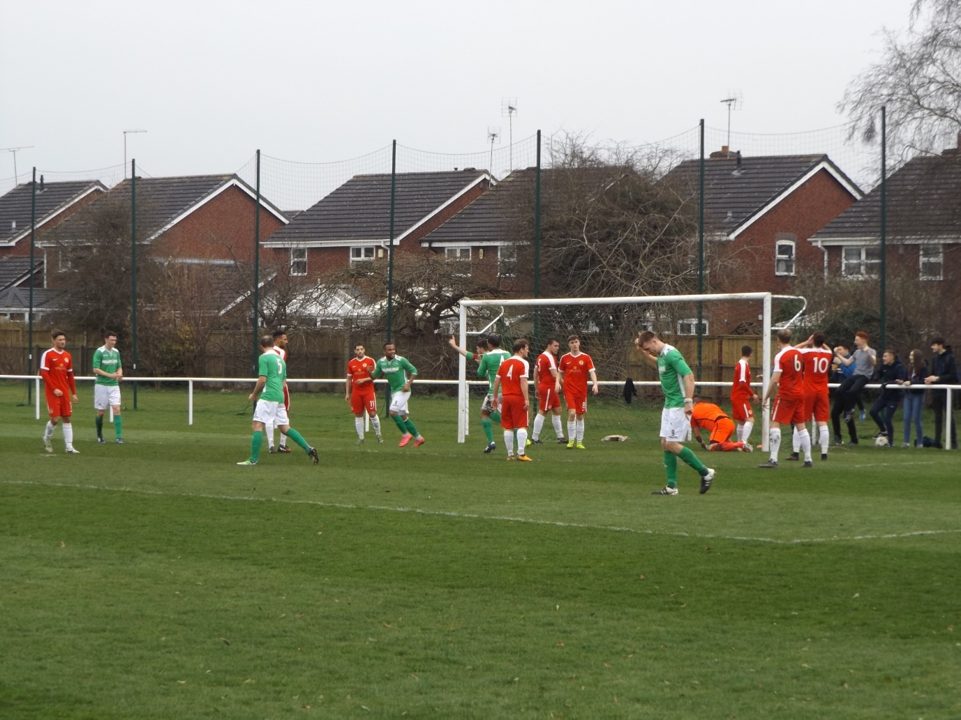 Elation for Brocton as their pressure play brought the first goal. How would the Wood respond?