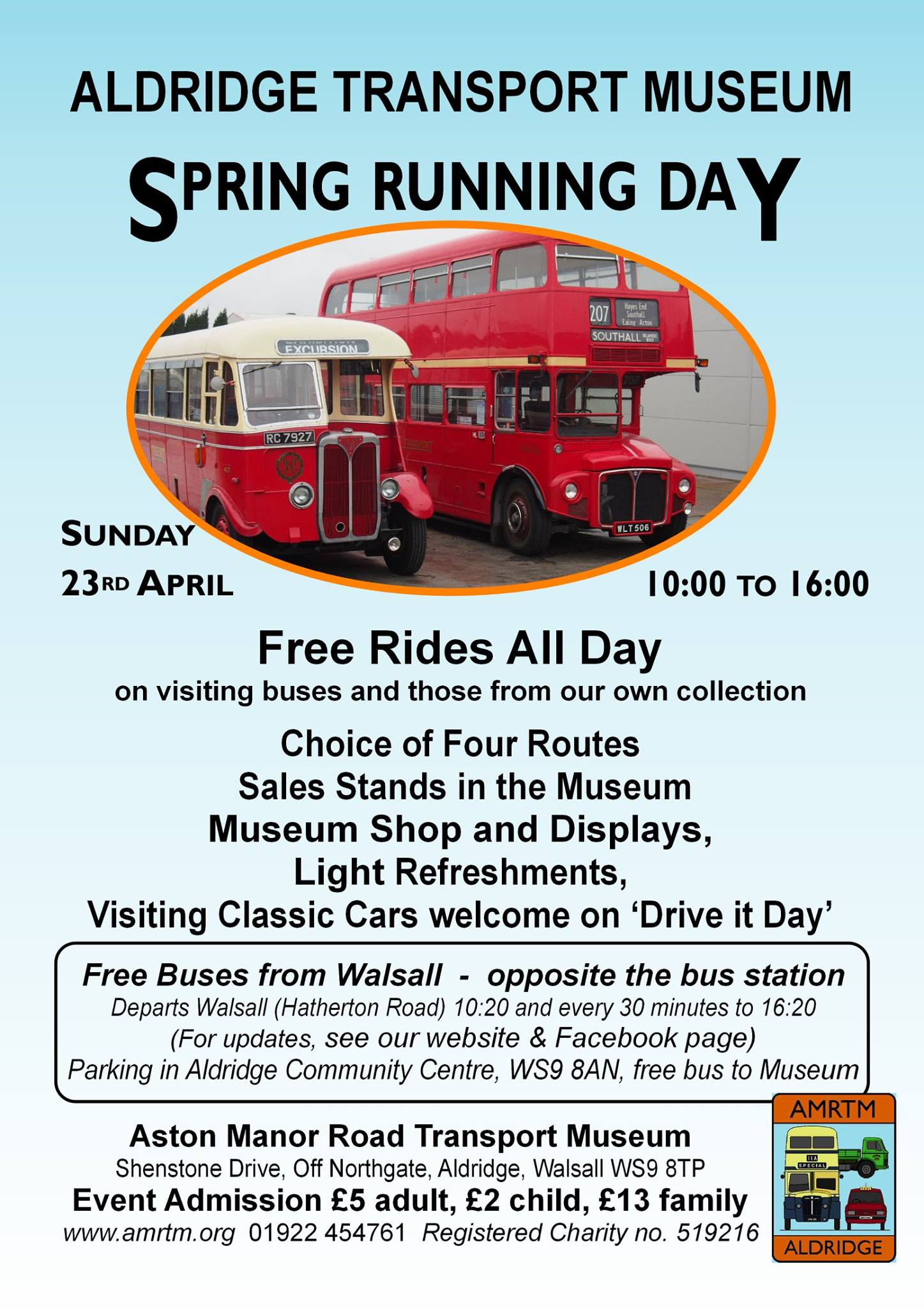 Aston Manor Transport Museum In Aldridge Spring Running Day This Sunday
