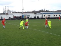 Highgate exhibited their usual fine ball control, and unsatisfactory arm control throughout this match
