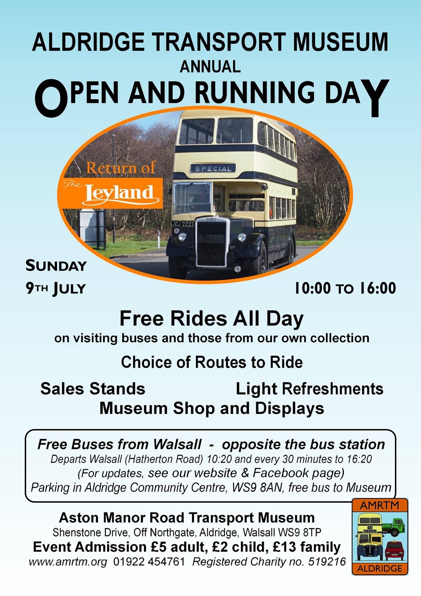 Aston Manor Transport Museum In Aldridge Annual Running Day Today