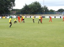 The match ends and players shake hands. They certainly enjoyed playing. We enjoyed watching