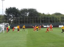 The Pics respond to the Wood's equalising goal with every kind of fire-power, but the Wood stiffen their resolve, to the surprise and chagrin of the 'Pics. And this if a friendly match!