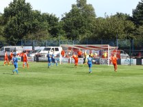 One of many blistering shots….and as many fine saves by a busy Whitchurch goalkeeper. Excellent soccer.