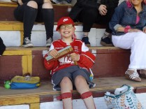 """My nomination for """"away supporter of the year"""" goes to Whitchurch Alport's mascot, seen here, who cheered and cheered all through the match."""