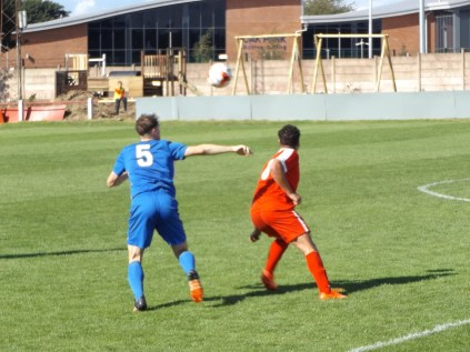 This game was characterised by determined skilful soccer, with accurate passing, off- the- ball running and several interesting duels. This is one of them.