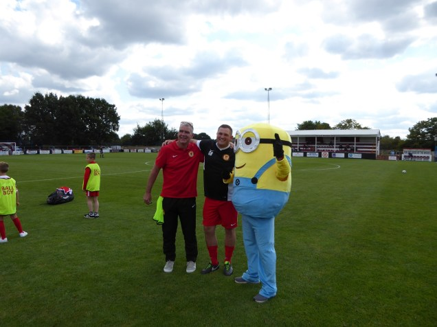 One for the album with WWFC manager Gary Birch between two admirers. FTGOTW
