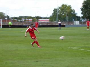 Craig Deakin launches another attacking move.