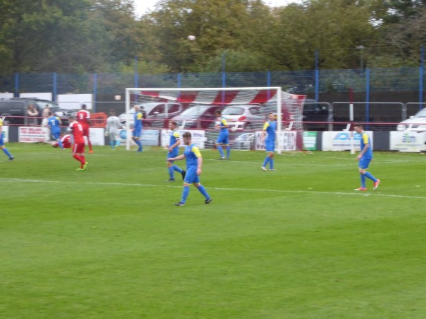 An attacking move by the Wood in the first half .