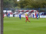 Pershore's valiant goalkeeper had his work cut out this afternoon as the Wood piled on the pressure