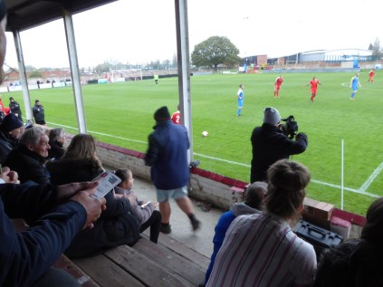 There were moments where warm moments gave the referee plenty to address, and where some spectators' throat oil began to take effect. Non league soccer. Wholesome and nourishing, in equal measure. Like the pies and burgers.