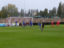 Goal number four for the Wood, late in the second half, scored by dynamo Craig Deakin