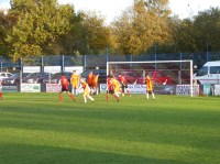 So close, but not a goal and the score remains nil- nil at half time