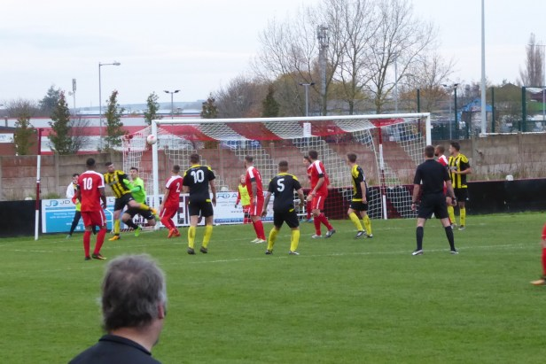 Holbeach in fighting mode as they struggle to score a goal late in the first half. It ain't over yet!