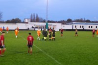 The game ends and tired players shake hands to complete this thoroughly captivating contest where Pelsall surprised their opponents. The score- line belies the effort and determination exhibited today. Final score, nil – nil draw