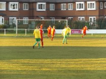 First half and Bolehall show their determination as they attack the Wood goalmouth. Game on!