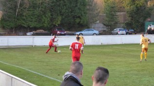 Another attacking move, first half, and met again by a forest of yellow legs, shoulders and arms near the goalmouth.