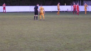 Second half and the referee has a word, after 65 minutes of the game, with Stourport captain.