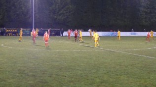 Second half and another moment where the referee has to have a word with a Stourport player.