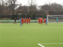 Second goal celebrations as Lichfield look dejected..a passing moment . How would Lichfield respond?