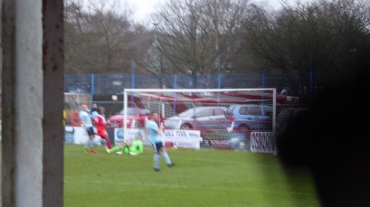 The breakthrough first goal,to the Wood late in the first half, There, somewhere.