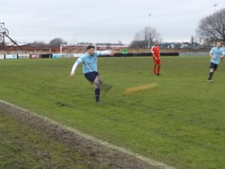 One of Coventry's players adds weight to the attack. Second half.
