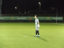 Lichfield's substitute goal keeper. Each movement was painful for him.