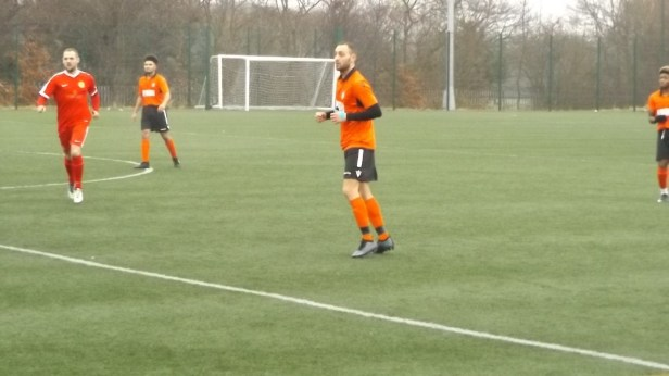 In heavy drizzle, a friendly yet meaningful contest between the Wood and the Villa ( that's Pelsall Villa)