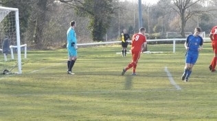 The two linesmen had a challenging time valiently trying to keep up with the sheer pace of the attacking players throughout this match.