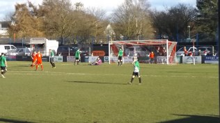 Patience and endeavour brings the first goal to the Wood and muddied shorts for Chelmsley's goalkeeper