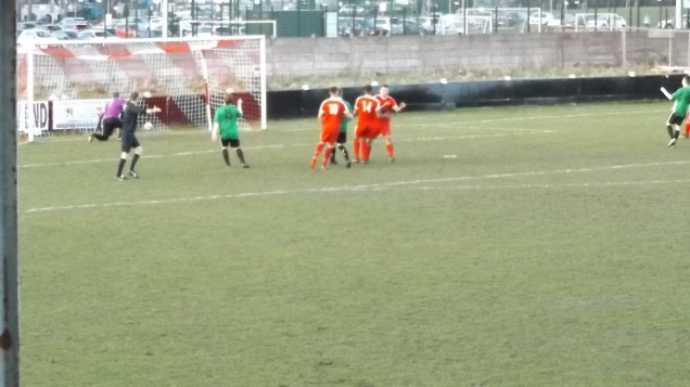 Second half and a goal from a penalty kick.