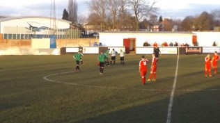 Later in the second half and the heavy going began to take its toll, especially on Chelmsley players.
