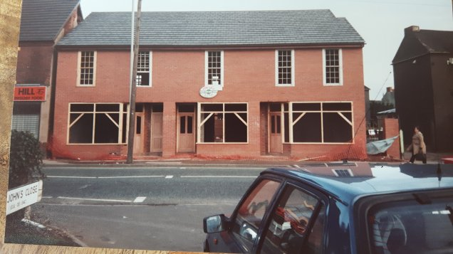 The 'new' shops, Walsall Wood High Street. Image posted by Joy Spears.