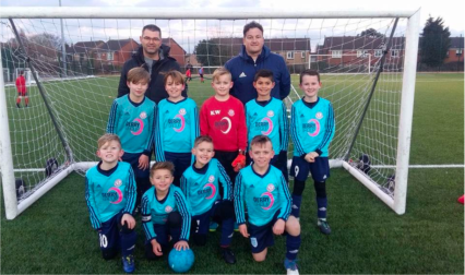The team at ready to play Walsall FC.